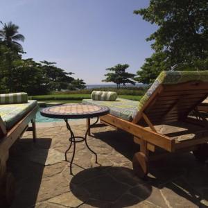 natural stone pool deck